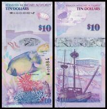 Bermuda 10 Dollar 2009 Prefix Onion (UNC) 百慕大10元 2009年 043369