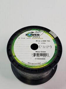 Power Pro 21100203000E Spectra Braided Fishing Line 20lb 3000 yard Moss Green