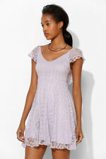 KIMCHI BLUE Lavender Purple Floral Lace Mini Dress Size Small S
