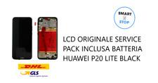 Display LCD Huawei P20 Lite Service Pack inclusa batteria Black