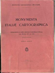Almagià-Monumenta Italiae Cartographica-IGM-Prima edizione-1929-65 tavole