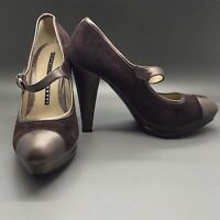 New Fratelli Rossetti brown suede leather heels pumps shoes 38 EU 8 US Italy