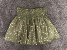 River Island 8 10 Khaki Green Cream Star High Waist Mini Skirt Beach Summer 🏝