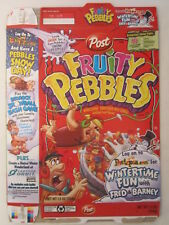 POST Cereal Box FRUITY PEBBLES 2010 Wintertime Fun [G7C11m]