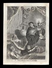 santino incisione 1600 S.NICOLA DA TOLENTINO