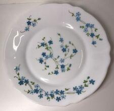 Lot18 De 6 Pequeñas Platos Planas Arcopal Francia D 19,5Cm Flores Azules