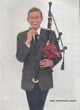 1960 Hart Schaffner & Marx PRINT AD Bagpipe player fancy men's suit