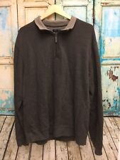 Van Heusen Men's Size XXL/2XL Pull Over 1/4 Zip Long Sleeve Ribbed Sweater. Y
