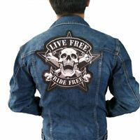 LIVE FREE PATCHES MOTORCYCLES IRON ON JACKET VEST JEANS BACK ROCKER BIKERS CLUB