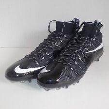 Nike VAPOR UNTOUCHABLE TD Flyknit Football Cleats BLACK WHITE 698833 010 SIZE 15