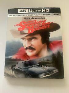 Smokey And The Bandit  4K UHD + Blu Ray + Digital Code + Slip Cover  New