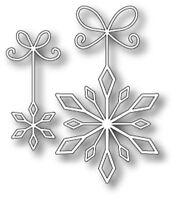 """MEMORY BOX 98729 """"Precious Snowflakes""""  100% Steel Craft Die  1 x 2.3, 1.9x3.3in"""