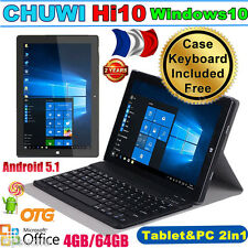"4/64Go 10.1"" CHUWI Hi10 Windows10 +Android 5.1 Intel Tablette PC + Clavier Coque"