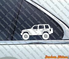 2X Lifted offroad truck stickers - for Jeep Liberty KJ (2002-2007)