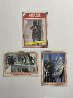 TOPPS STAR WARS BOBA FETT ROOKIE 3 CARD LOT EMPIRE STRIKES BACK 1980 RC