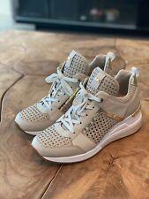 "Michael Kors Designer Sneakers Georgie Trainer Size 7 1/2 US, Color ""Beige"" New!"