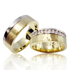 2 Silber Trauringe mit Gravur + Etui Eheringe Verlobungsringe Partnerringe 3308