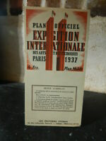 Exposition Internationale des Arts et Techniques Paris ETERNA 1937 plan officiel
