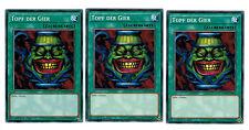 Yugioh 3 X (3 Karten) Topf der Gier YGLD-DEB26, Common, Mint