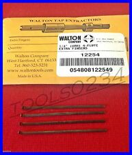 """New Walton 12254  (4) Tap Extractor Replacement Fingers 1/4""""  4 Flute USA MADE"""