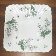 """ROYAL WORCESTER china VALENCIA pattern square cake plate 9"""""""