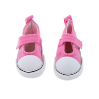 4.8cm Fuchsia Ankle Strap Mary Jane Canvas Shoes for 1/6 BJD Doll Clothes