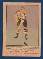 JOHN MOE HENDERSON ROOKIE RC  51-52 PARKHURST 1951-52 NO 23 GOOD+ 23931