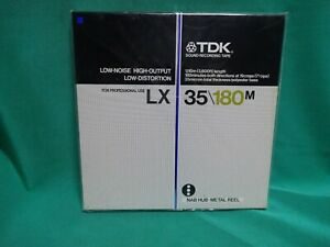 """TDK LX 35-180M with 10.5"""" Metal  Reel for 1/4""""  Tape -RARE!N.O.S. STILL SEALED!"""