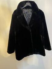 Ladies Andrew Marc Faux Fur Coat Very Soft Size L No Tag