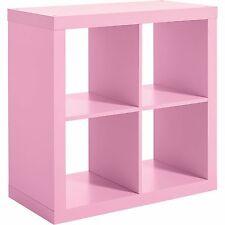 Vinyl Storage Record Rack Stand Shelf Pink Crate Album Furniture Vintage Cabinet