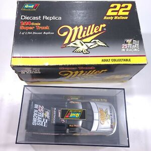 1996 RUSTY WALLACE #2 MILLER FORD F150 SUPER TRUCK 1/24 RARE 1 of 2,504 MADE