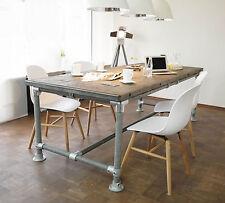 Tisch Industrie Stil Massiv Modern 226x95 Neu Gerüst Holz Esstisch Gartentisch