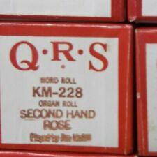 Qrs Kimball Electramatic Player Organ Roll Second Hand Rose Nos Rare Km -228
