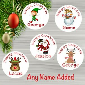 48 Personalised Christmas Stickers Ideal for Presents Labels Santa Gift Tags