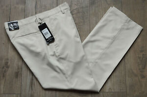 """Mens Light Beige adidas Climalite Golf Trousers with Stretch W34"""" L30"""" with Tags"""