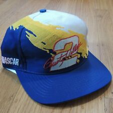 Rusty Wallace Vintage NASCAR Snapback Hat Logo 7 Splash Blue Yellow White NEW