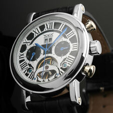 Automatic Mechanical Men's Watch Stainless Steel Case Date Display Blue Hands
