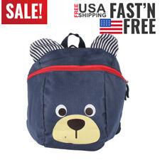 Cute Children Kids Anti-Lost Bag Kindergarten Toddler Backpack Bag Dark Blue gJ