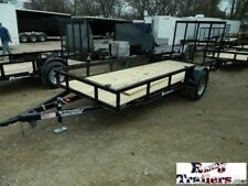5 x 14 14ft Motorcycle Bike Mower Lawn Farm Garden Utility Cargo Trailer DFW