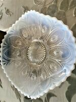 VINTAGE OPALESCENT RUFFLED EDGE BOWL