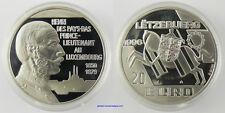 20 EURO ARGENT LUXEMBOURG 1996 HENRI DES PAYS BAS , FDC
