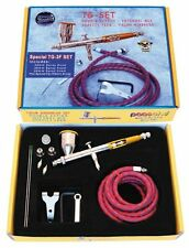 Paasche Talon Double Action Gravity Feed Airbrush Set 3 Heads & Fan Aircap