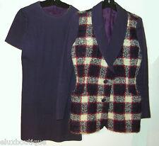 KARL LAGERFELD Fantasy Tweed DRESS SUIT Jacket Ensemble Wool Knit Boucle Blazer