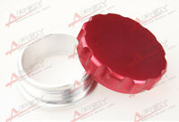 """2"""" 50.8mm Aluminium Alloy Weld On Filler Neck And Cap Oil, Fuel, Water Tank Red"""