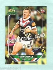 2011  RUGBY LEAGUE PROMOTIONAL CARD - TODD CARNEY, SYDNEY ROOSTERS