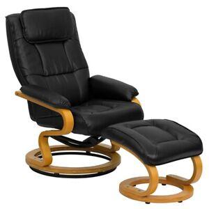 Flash Furniture Black Bonded Leather Recliner, Black - BT-7615-BK-CURV-GG