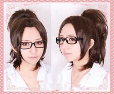 Halloween Attack on Titan/Shingeki no Kyojin Hanji Zoe Dark Brown Cosplay Wig