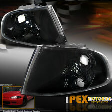 92-95 Honda Civic Hatchback Coupe Black JDM Style Corner Signal Bulb Lights Lamp