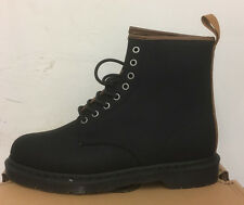 DR. MARTENS 1460 BLACK + TAN WAXY CANVAS + NEW LAREDO BOOTS SIZE UK 6