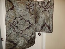 Croscill ROYALTON Brown Espresso Blue Medallion Paisley 1 Pr (2) King Shams